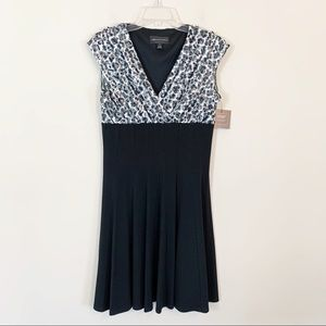 Connected Apparel • Black Surplice Dress Size 10